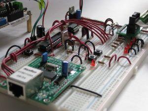 Circuito utilizado para las pruebas del Stack TCP/IP