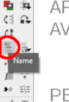 """Seleccionamos la herramienta """"name"""" en la barra de herramientas lateral."""