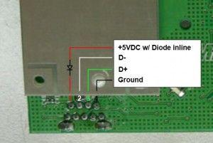 Para hacer funcionar el módulo RF con la PC, solo hacen falta unos puntos de soldadura