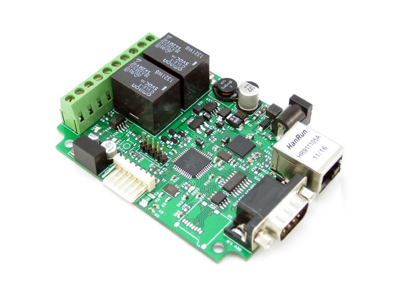 Nodo Ethernet 100 Mbps con PIC - Netport 100 - Geek Factory