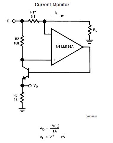 Circuito de sensado de corriente con LM324, ideal cuando se requiere hacerlo de forma barata y sin muchas complicaciones.