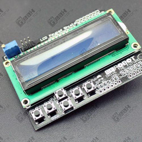 shield con pantalla LCD 16x2