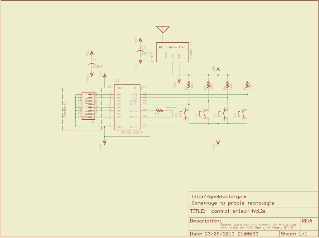 emisor control remoto ht12e
