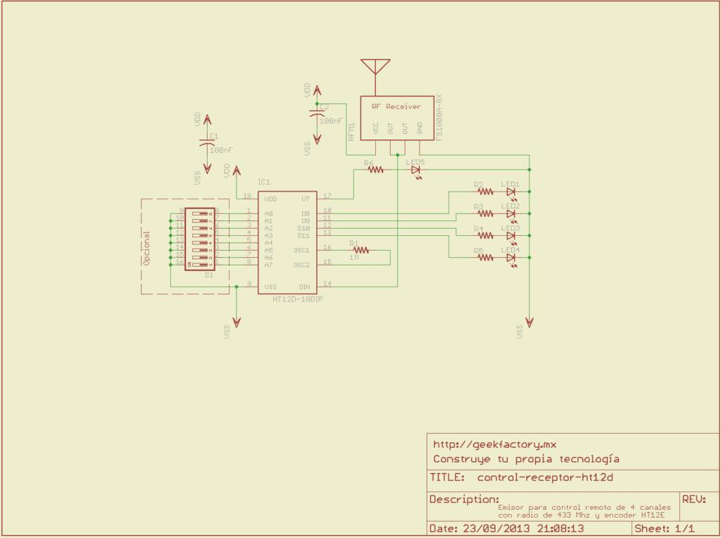 receptor control remoto ht12d