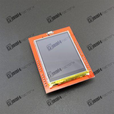 Este Shield con pantalla LCD táctil constituye una interfaz de usuario llamativa y versátil en proyectos con arduino. Es compatible con librería UTFT.