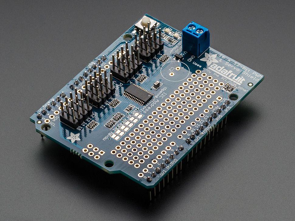 Shield controlador de servos canales adafruit para