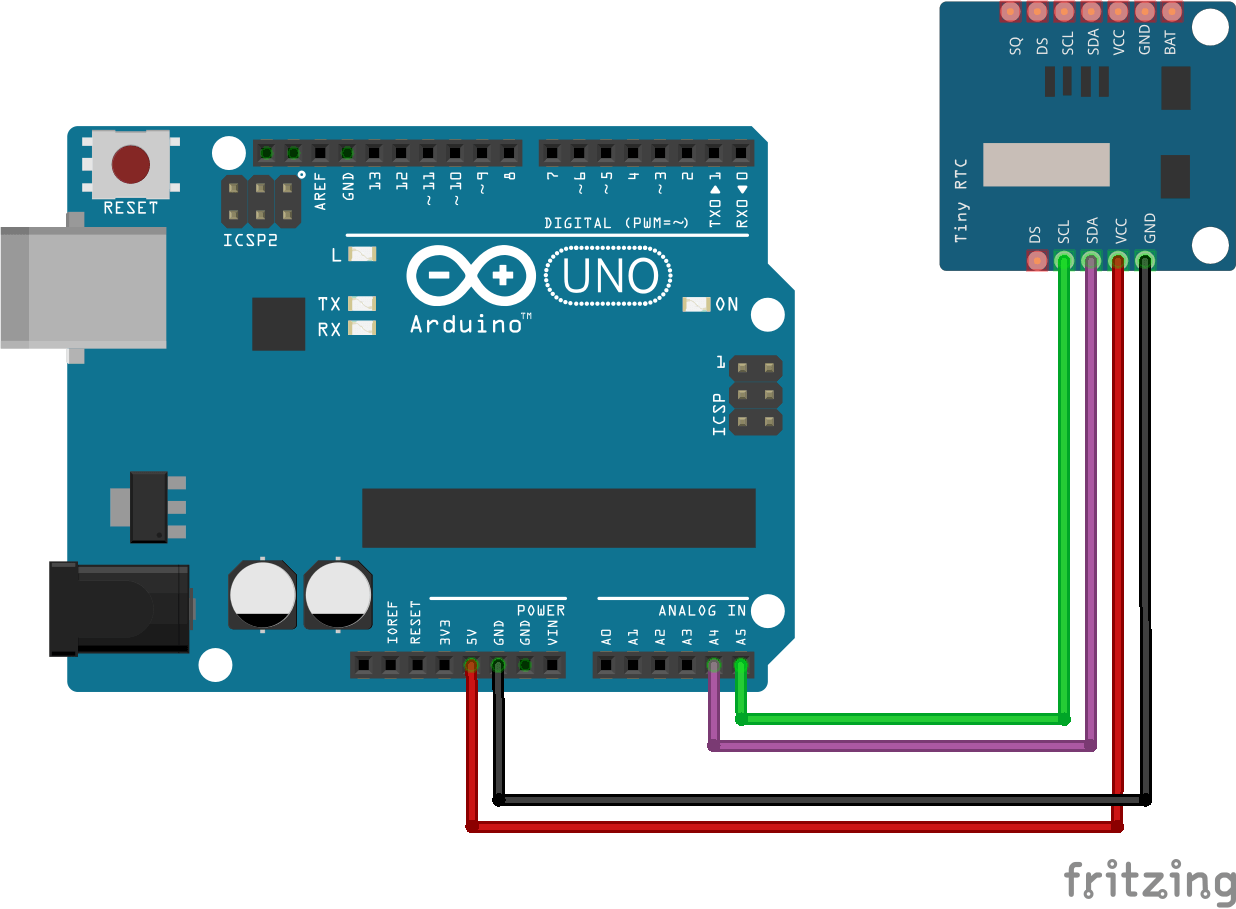 tutorial ds1307 tiny rtc con arduino