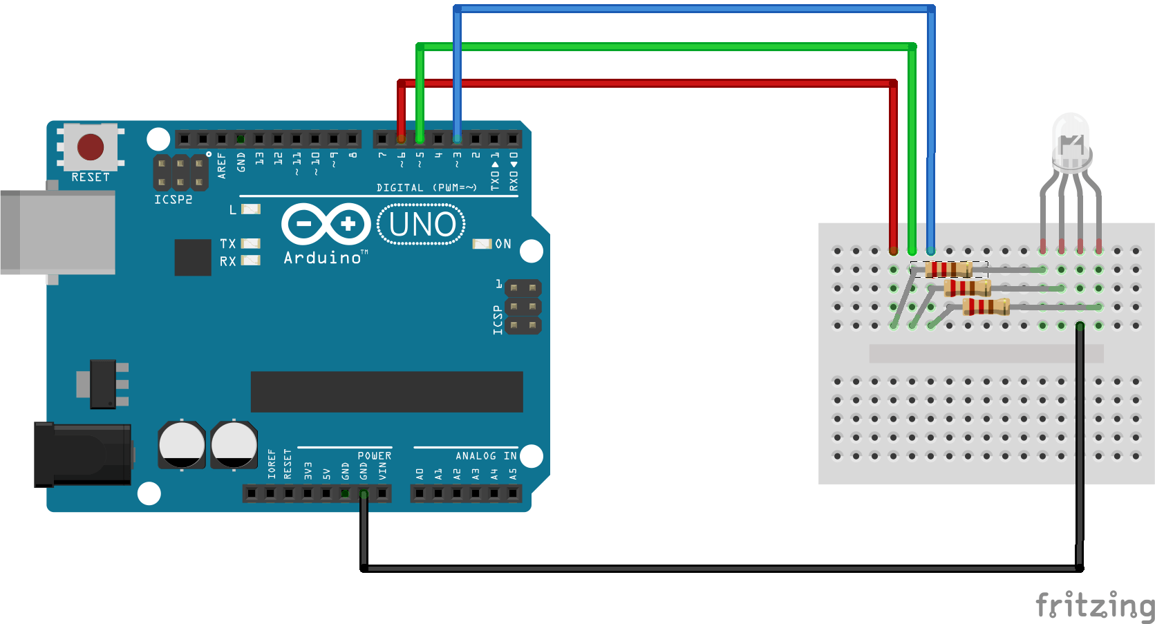 Arduino Rgb Led Wiring Guide And Troubleshooting Of Diagram Strip Controlar Tu Desde La Pc Mediante Comandos De