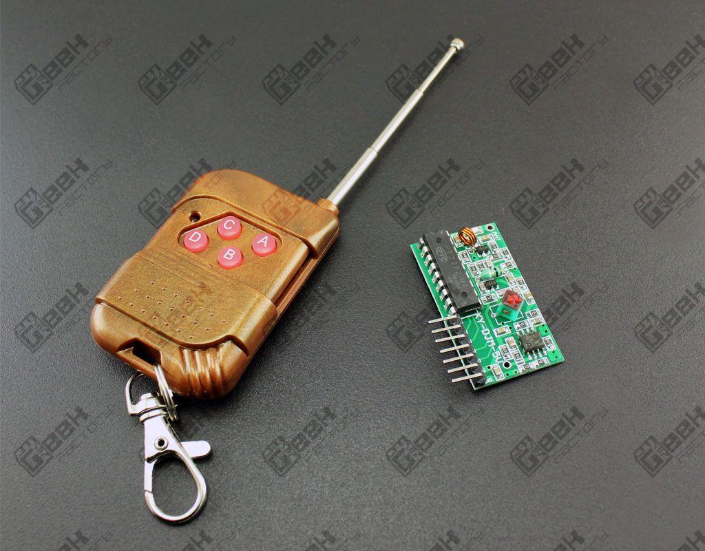 Kit modulo emisor 4 botones y receptor de 315 Mhz para arduino