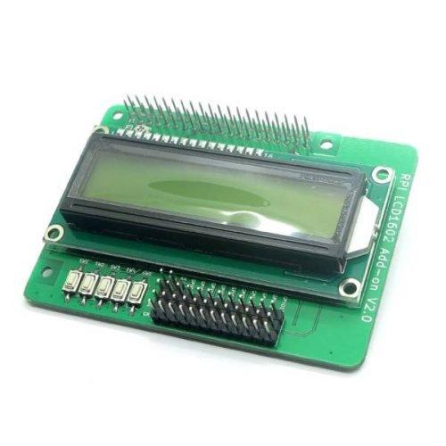 Hat Raspberry Pi pantalla LCD 16x2 y botones