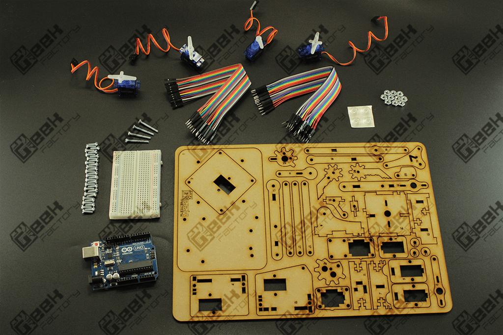 Kit Completo Brazo Robótico meArm para Arduino
