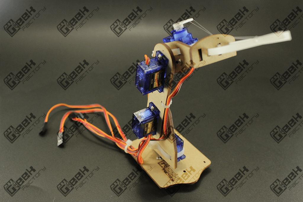 Kit mini brazo robot arduino mdf geek factory