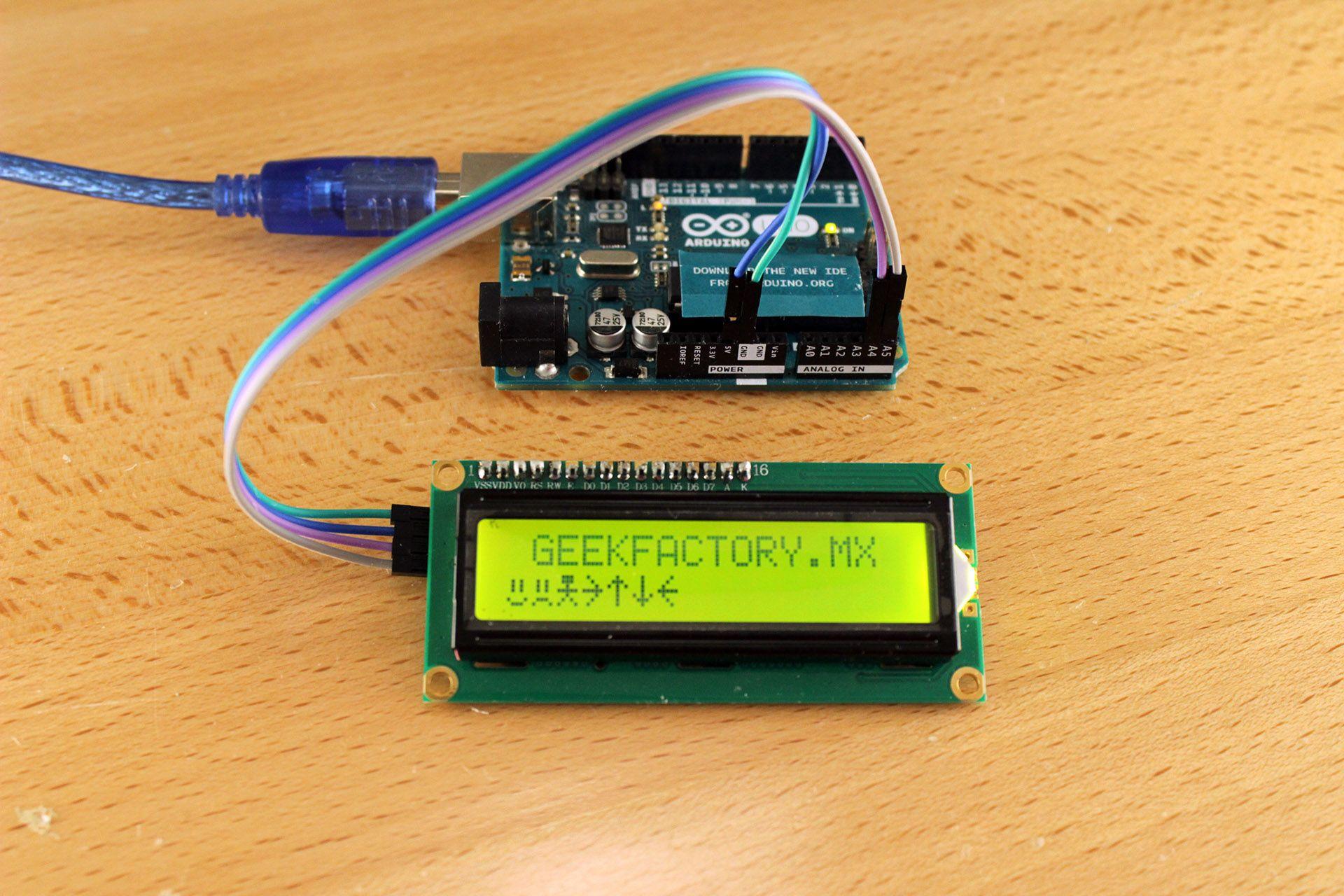 Lcd 16x2 Por I2c Con Arduino Usando Solo Dos Pines Geek Factory 2x16 162 16 X 2 1602 Display Module Raspberry