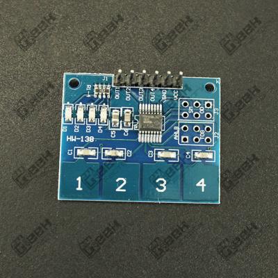 Interruptor Touch Capacitivo 4 Dígitos