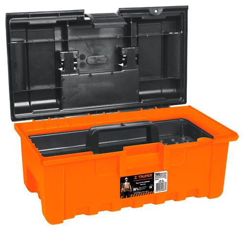 "Caja para herramientas 14"" Truper Naranja"