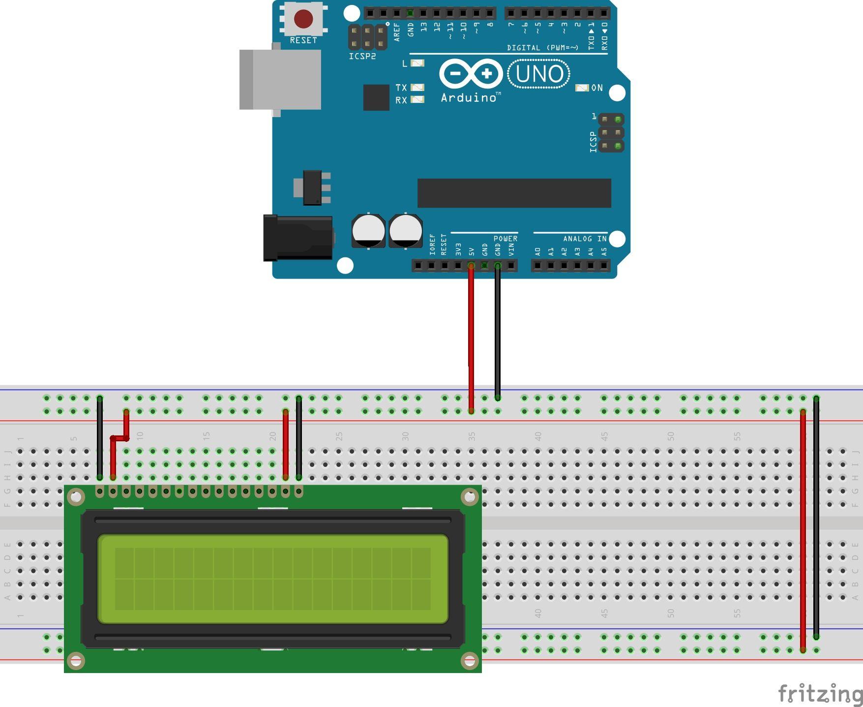 Pantalla alfanumérica lcd con arduino geek factory