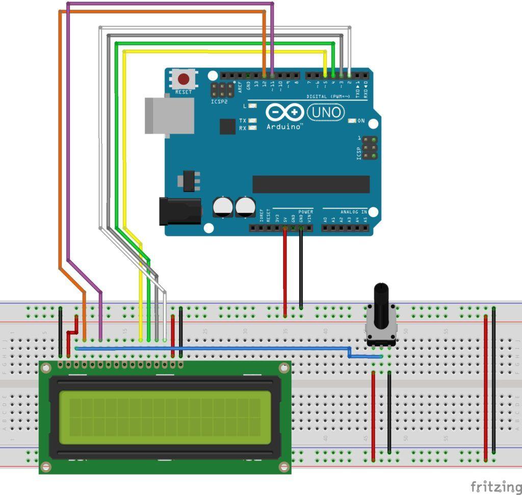 LCD 16X2 con Arduino - Señales de control
