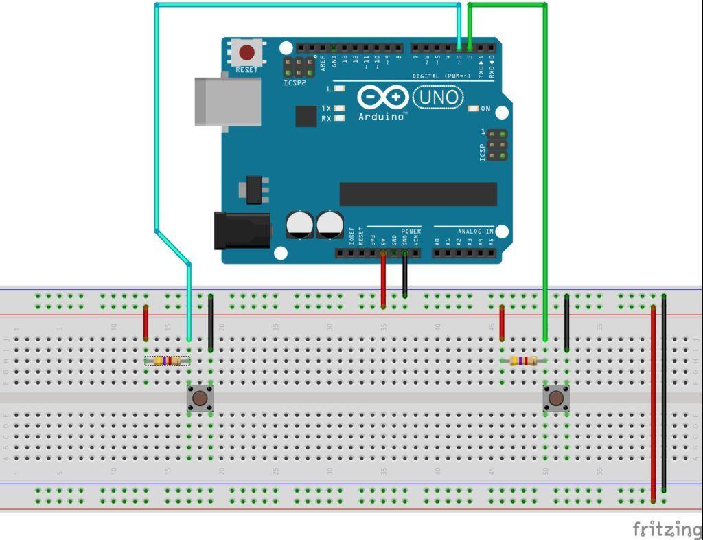 circuito boton practicas con arduino