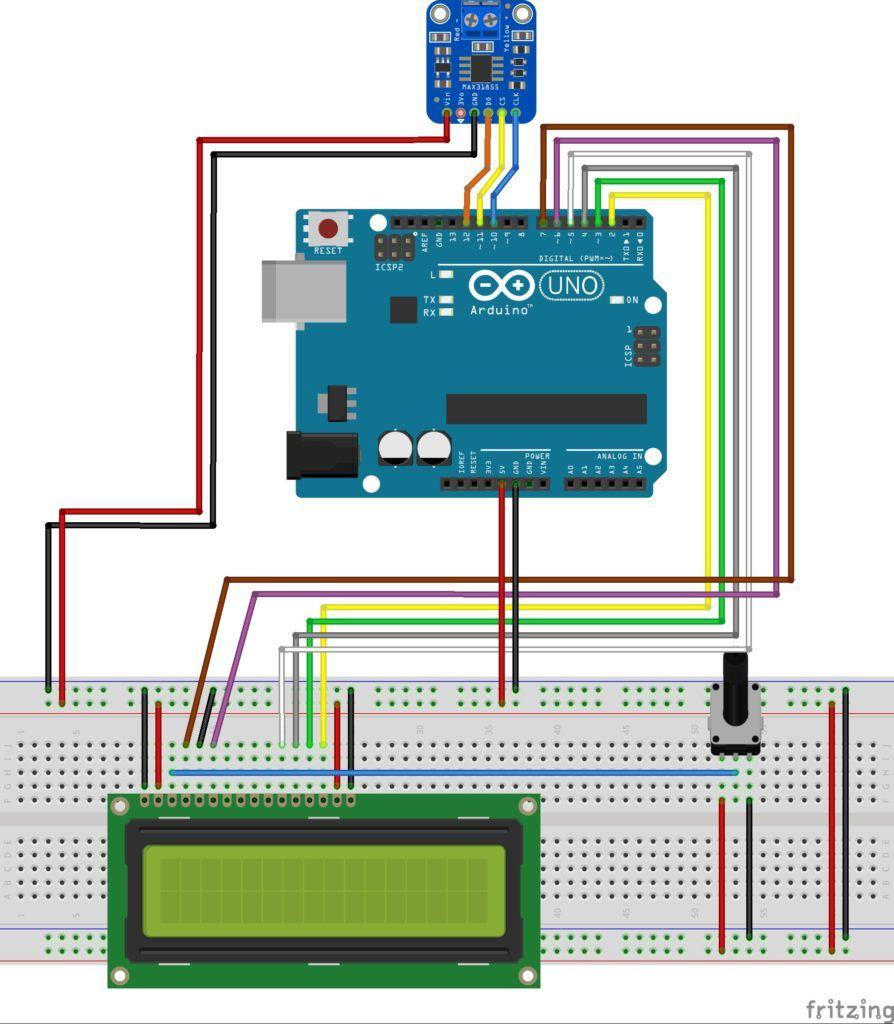 Termopar Con Arduino Y Max6675 Medición De Temperatura