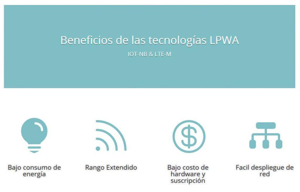 Beneficios de las tecnologias LPWA LTE-M & IOT-NB