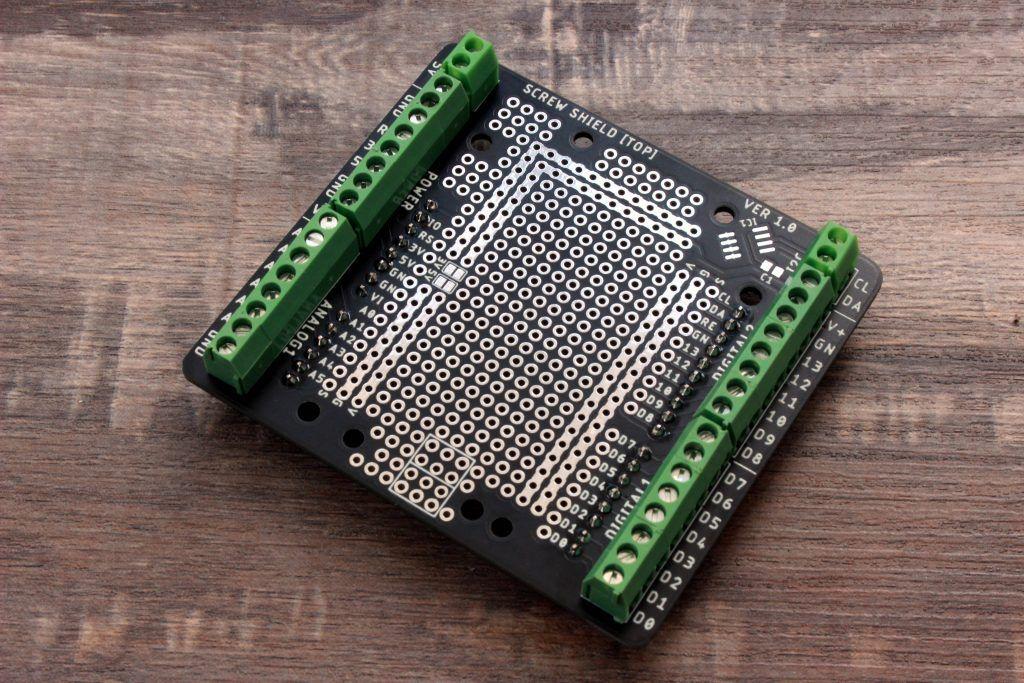 Shield de borneras para arduino armado normal