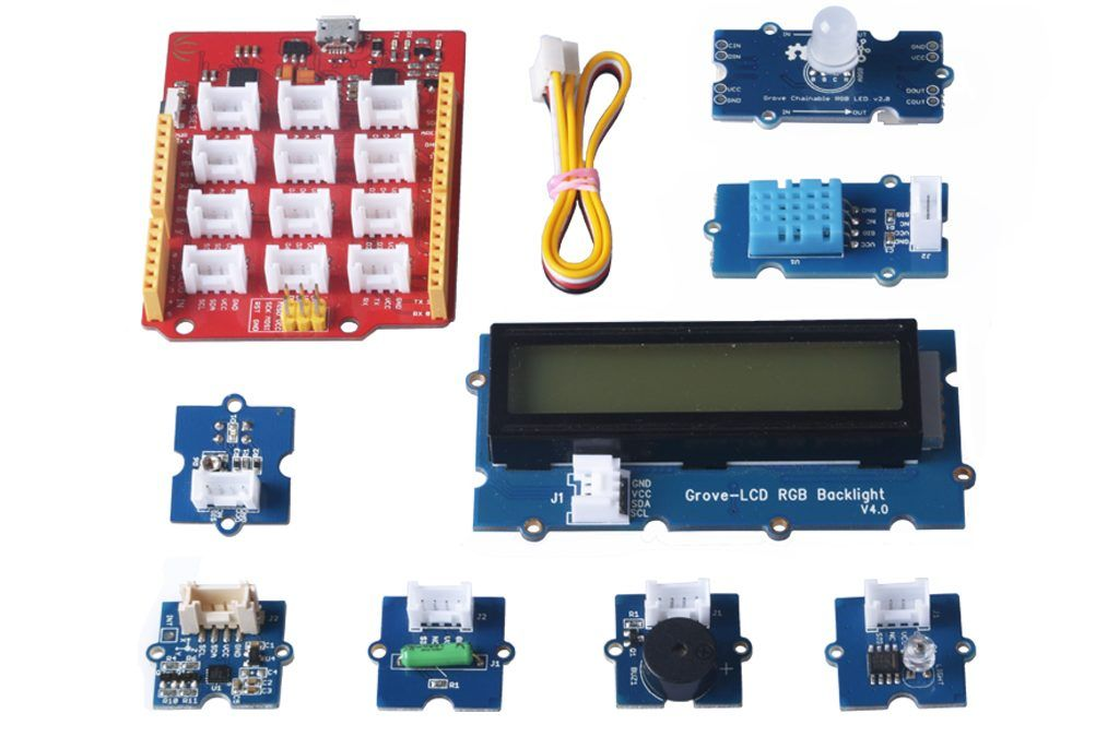 Kit principiantes para Arduino con sistema Groove