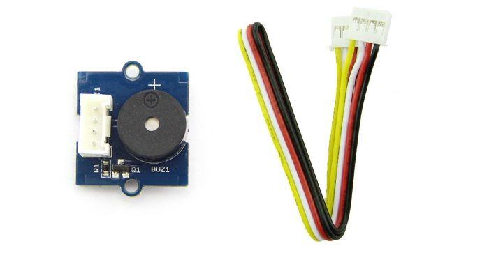 Módulo buzzer o zumbador con su cable. Compatible con sistema grove