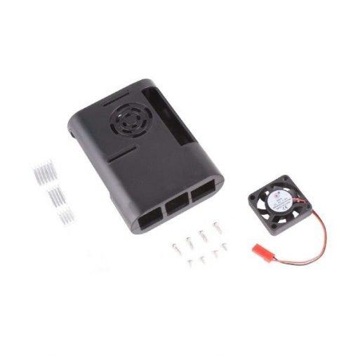 Gabinete o carcasa de plástico con ventilador para Raspberry Pi 4
