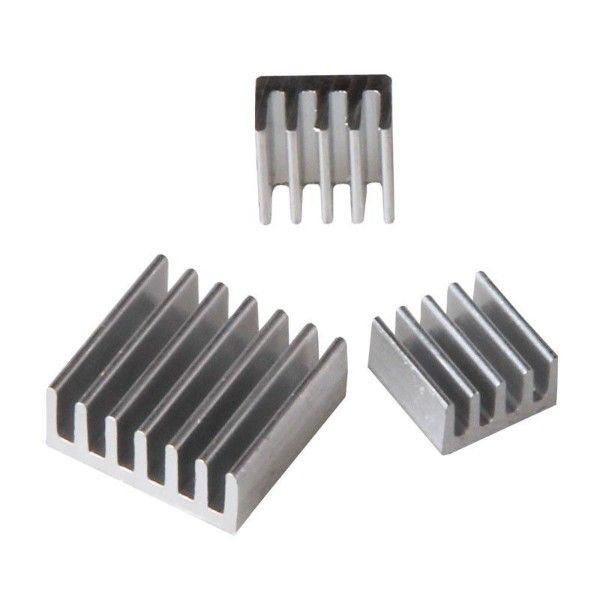 Disipadores para Raspberry Pi (kit de 3 piezas)
