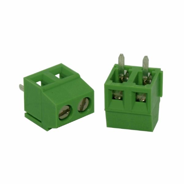 Bornera 2 vías 3.5 mm para PCB (mediana)