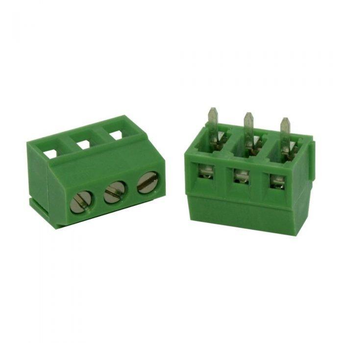 Bornera 3 vías 3.5 mm para PCB (mediana)