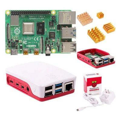 Kit Raspberry Pi 4 4GB + carcasa + fuente de poder original
