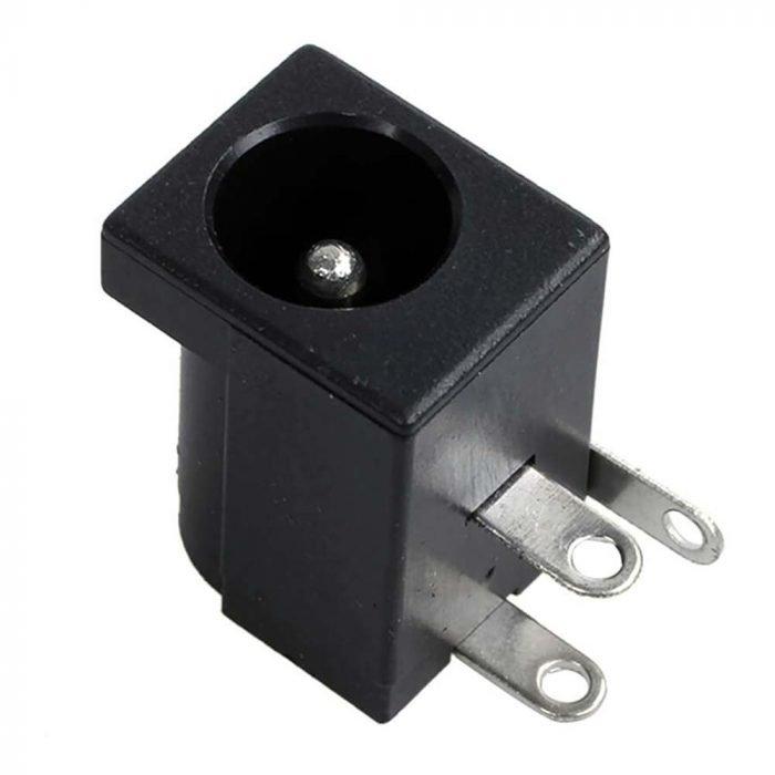 Conector jack alimentación DC hembra para PCB DC-005