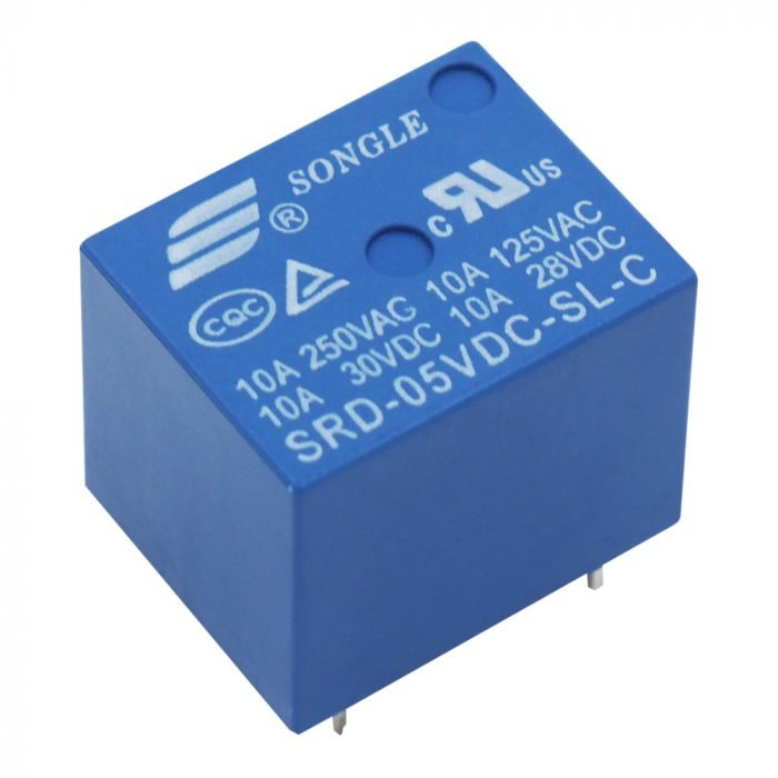 Relevador 5 volts SRD-05VDC-SL-C